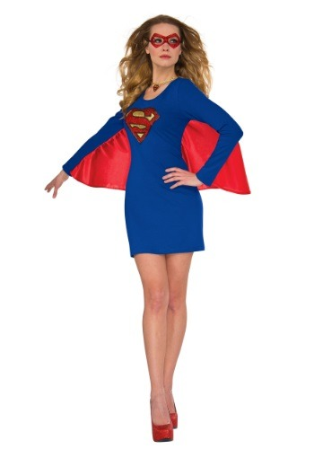 Click Here to buy DC Supergirl Cape Womens Dress Costume from HalloweenCostumes, CDN Funds