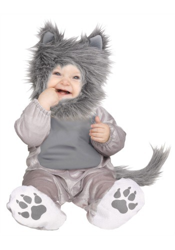 Click Here to buy Baby & Toddler Lil Wolf Cub Costume from HalloweenCostumes, CDN Funds
