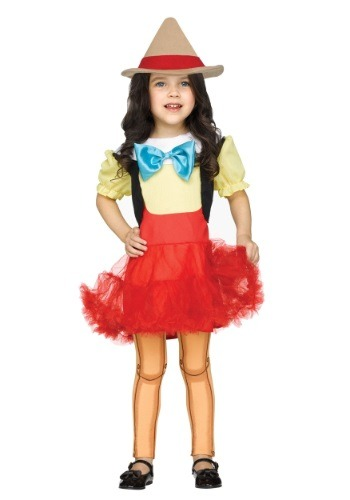 Toddler Wooden Girl Costume