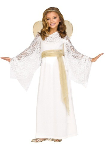 Click Here to buy Kids Angelic Maiden Costume from HalloweenCostumes, USA Funds & Shipping