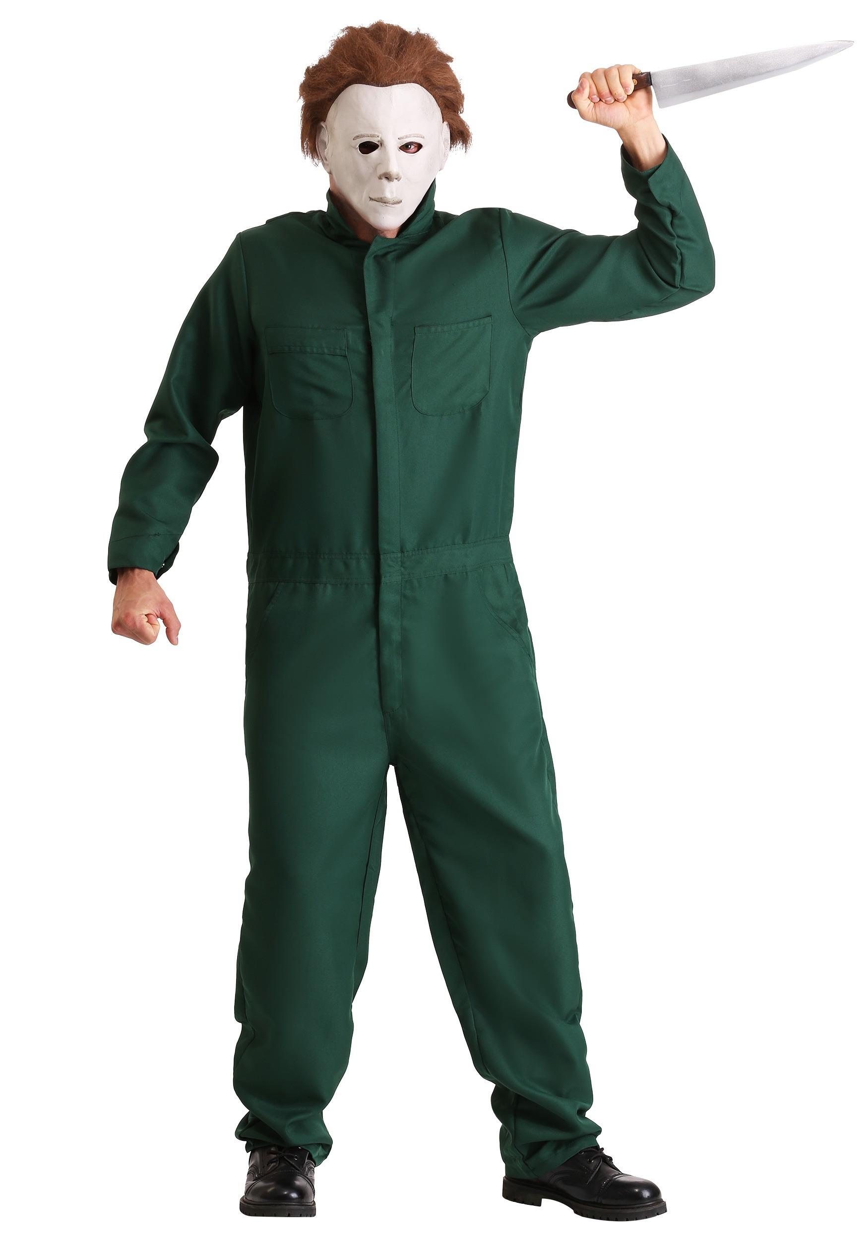 Halloween Michael Myers Costume.Halloween Ii Adult Michael Myers Coveralls Costume
