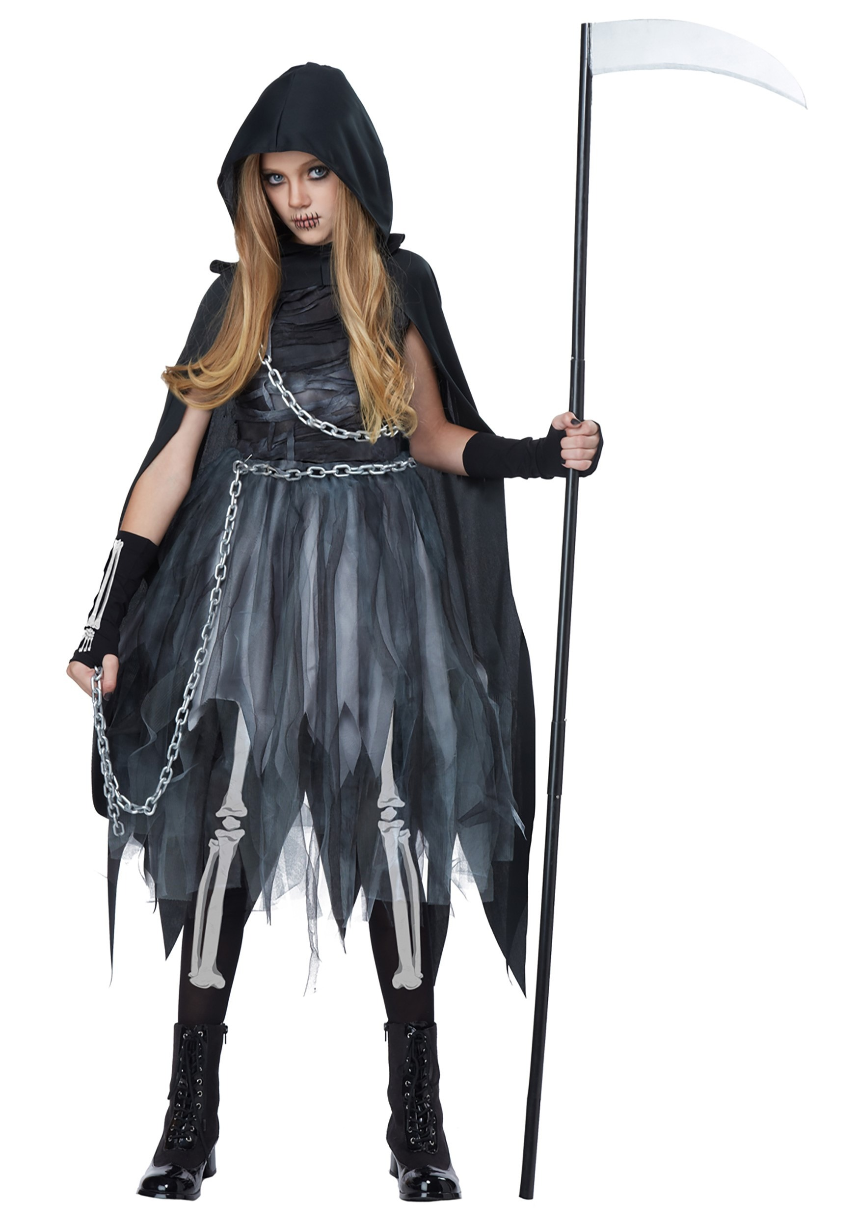 sc 1 st  Halloween Costumes & Child Reaper Girl Costume