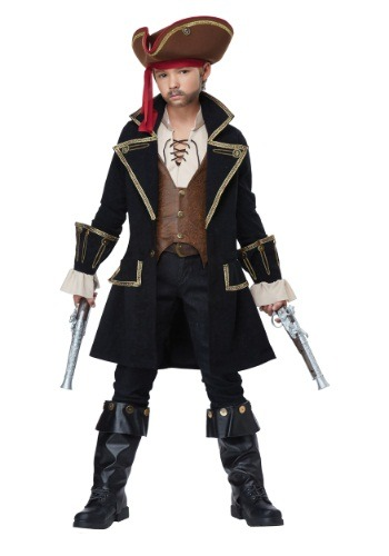 Deluxe Kids Pirate Captain Costume