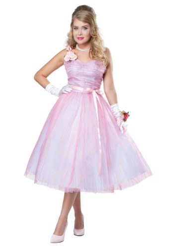 Adult Women's 50s Prom Beauty Costume ()