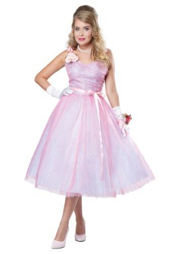 Womens Adult 50s Prom Beauty Costume