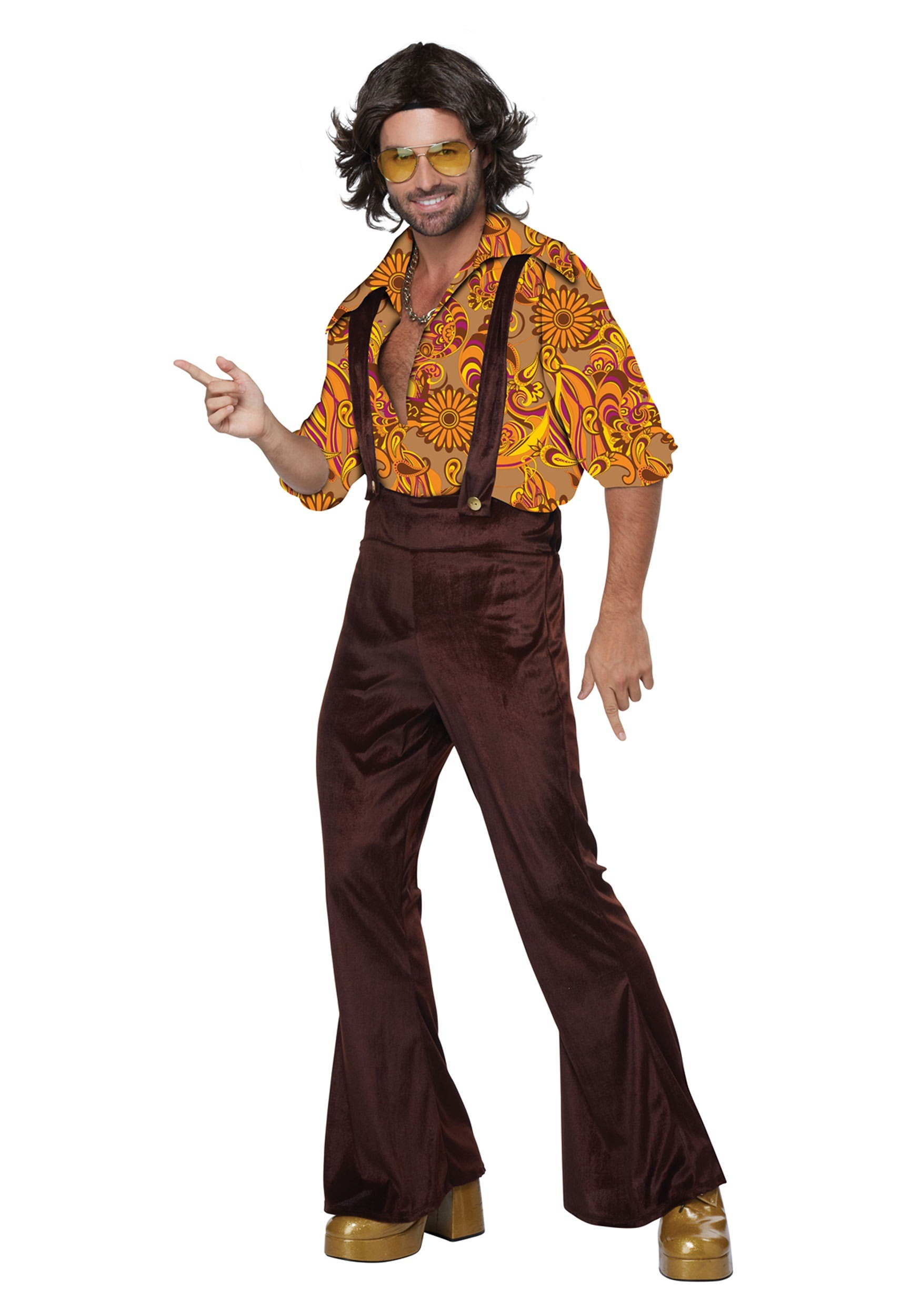 Adult Men S Jive Talkin Disco Dude Costume
