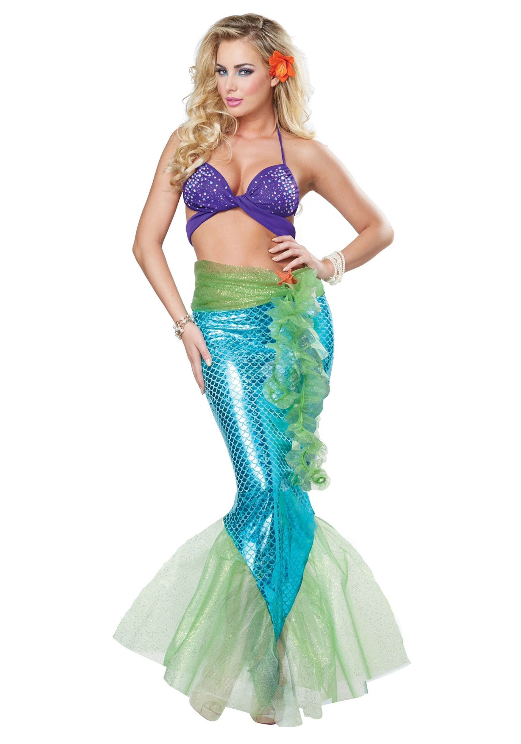 sc 1 st  Halloween Costumes & Adult Womenu0027s Mythic Mermaid Costume