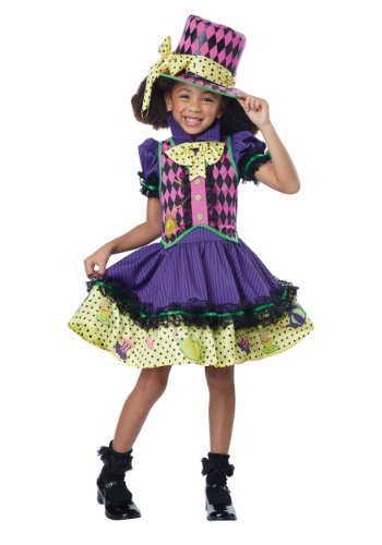 Click Here to buy Kids Deluxe Mad Hatter-ess Costume from HalloweenCostumes, USA Funds & Shipping