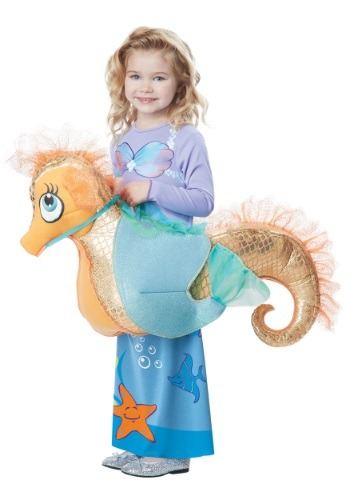 Child Ride a Seahorse