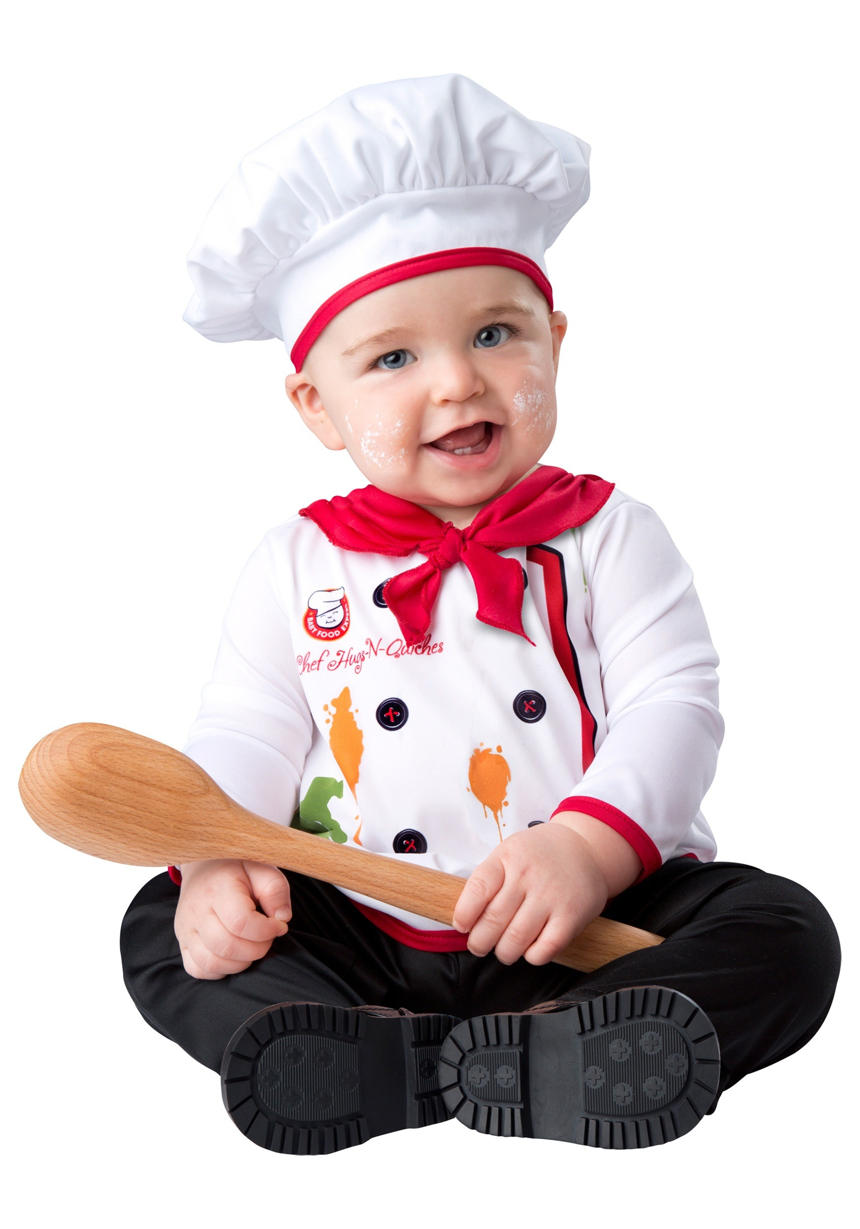 infant hugs and quiches chef costume