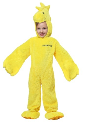 Click Here to buy Peanuts Woodstock Super Deluxe Costume for Toddlers from HalloweenCostumes, USA Funds & Shipping