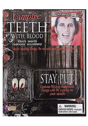 Vampire Teeth with Blood By: Forum Novelties, Inc for the 2015 Costume season.