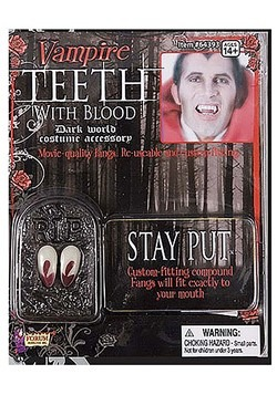 Vampire Teeth with Blood