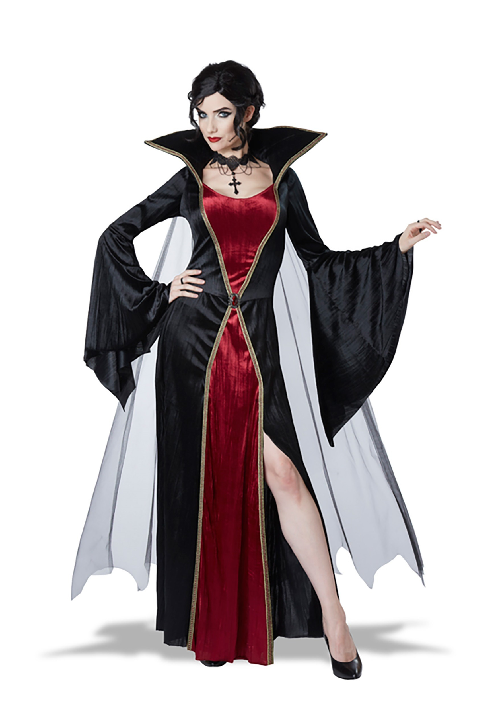 plus size classic vampire costume. Black Bedroom Furniture Sets. Home Design Ideas