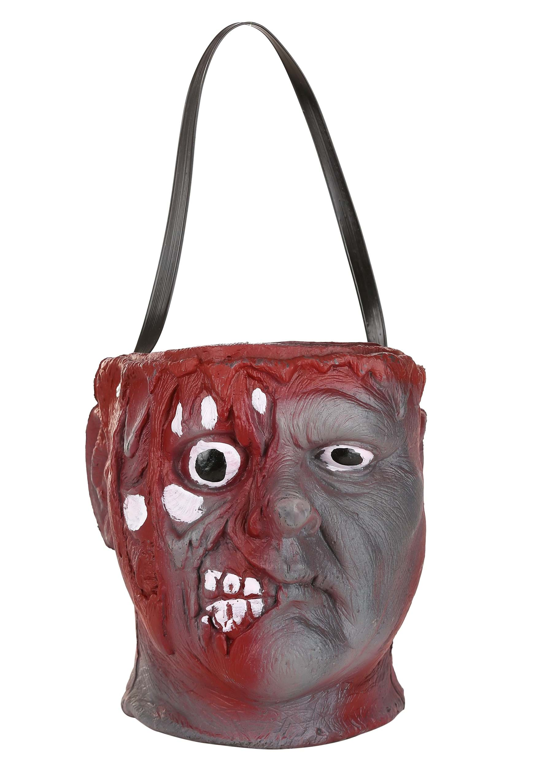 Halloween skull decorations - Bleeding Zombie Bowl