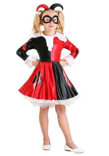 Click Here to buy Kids Harley Quinn Costume from HalloweenCostumes, USA Funds & Shipping