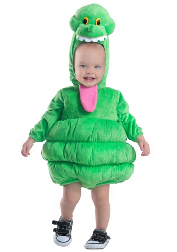Click Here to buy Kids Deluxe Slimer Costume from HalloweenCostumes, USA Funds & Shipping