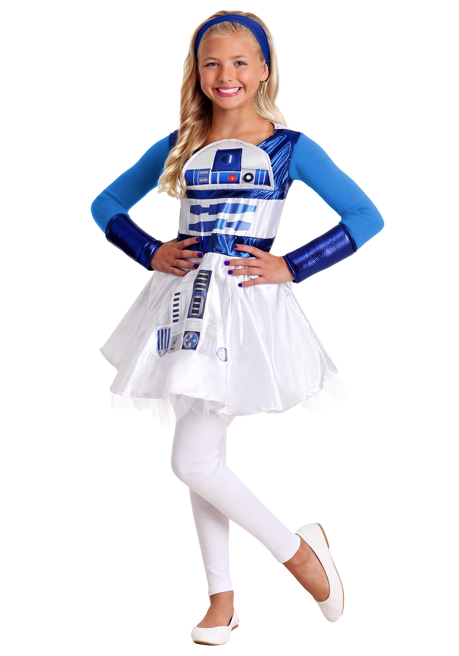 Girls R2D2 Dress Star Wars Costume