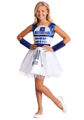 Click Here to buy Girls R2D2 Dress Star Wars Costume from HalloweenCostumes, CDN Funds