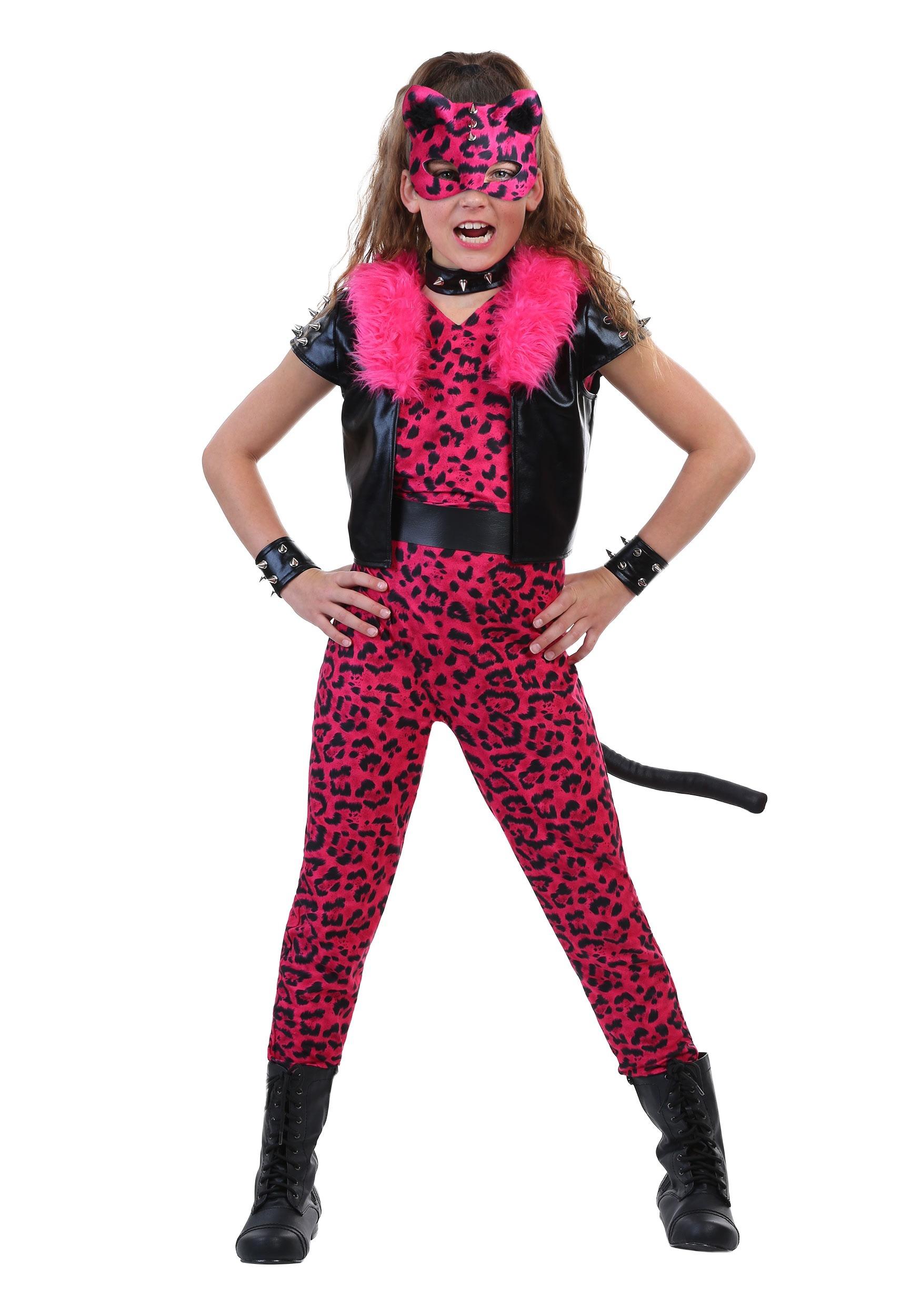 Tween Pink Party Leopard Costume FUN3695