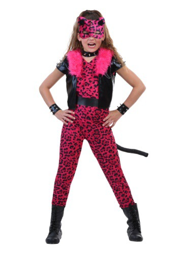 Tween Pink Party Leopard Costume