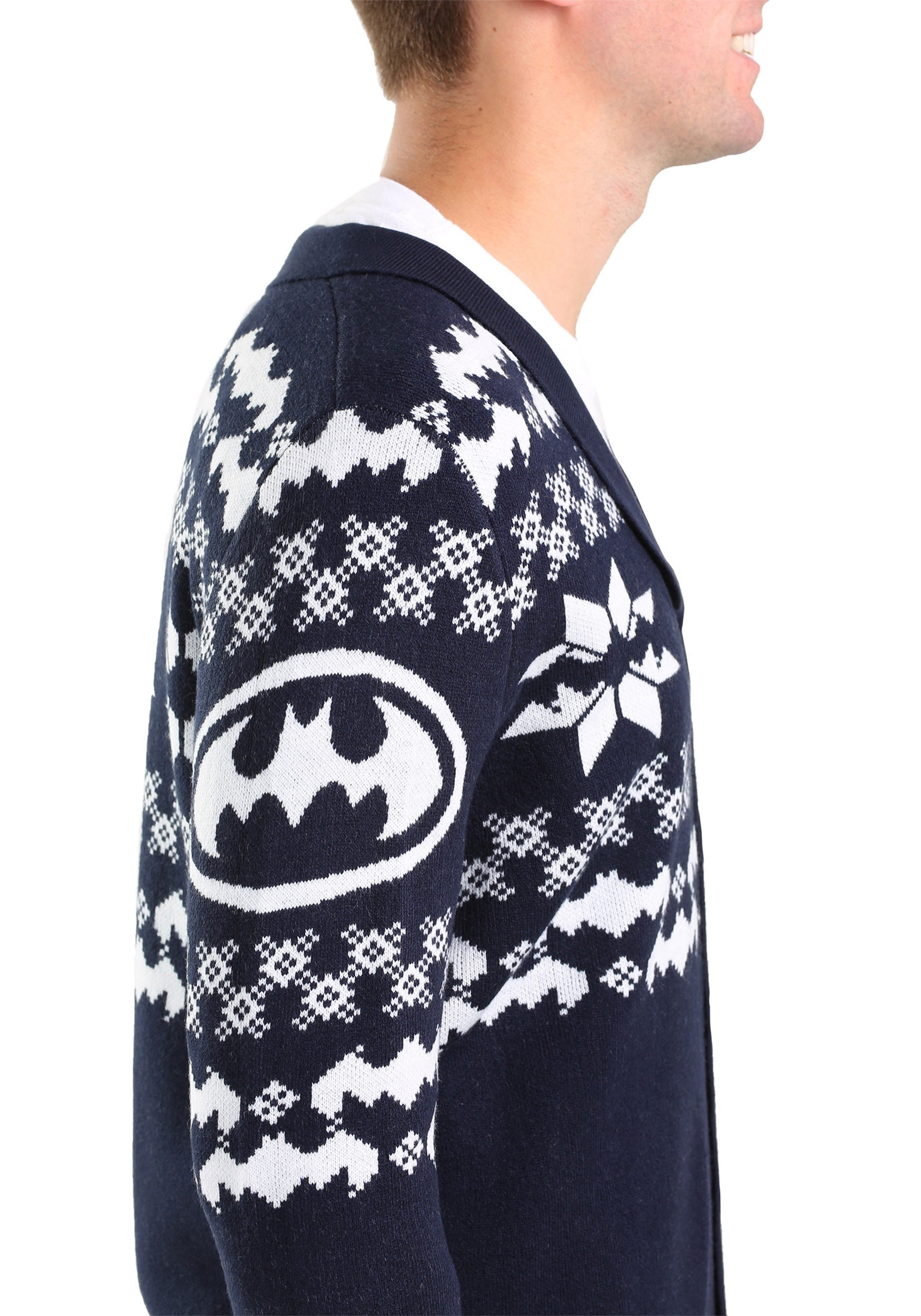 mens batman christmas cardigan