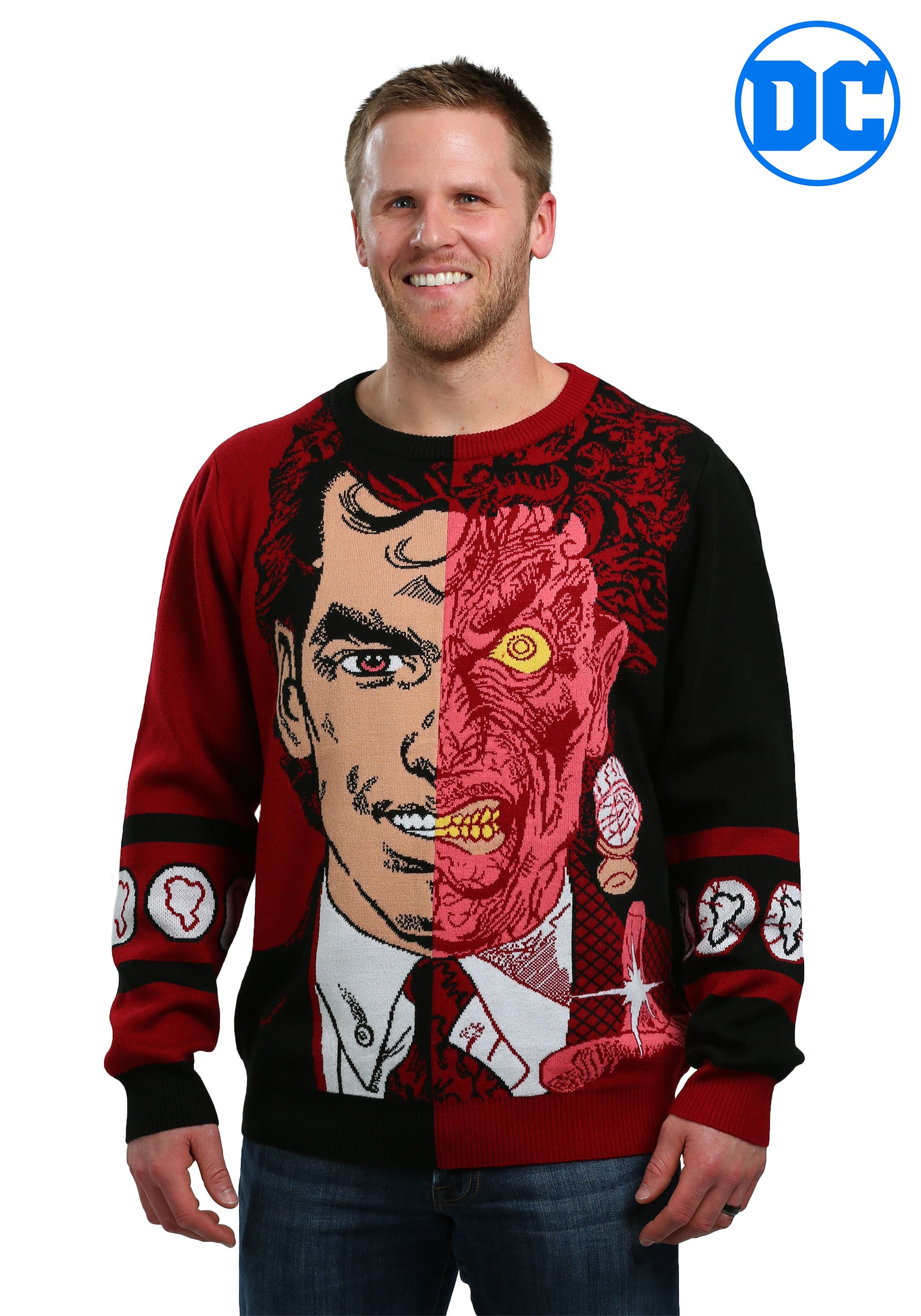 Two Face Pullover Ugly Christmas Sweater