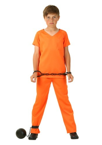 Boy's Orange Prisoner Costume
