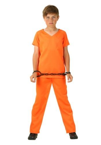 Boys Orange Prisoner Costume