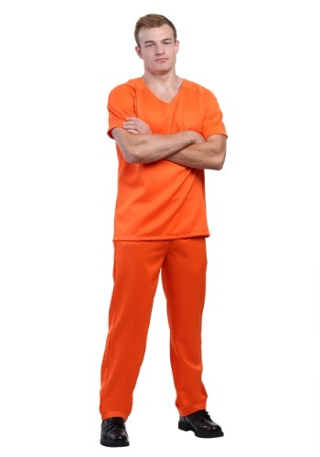 Men's Orange Prisoner Costume