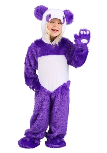 Furry Purple Panda Toddler Costume 1