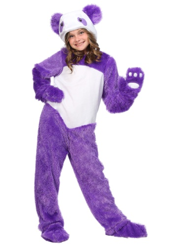 Furry Purple Panda Girls Costume