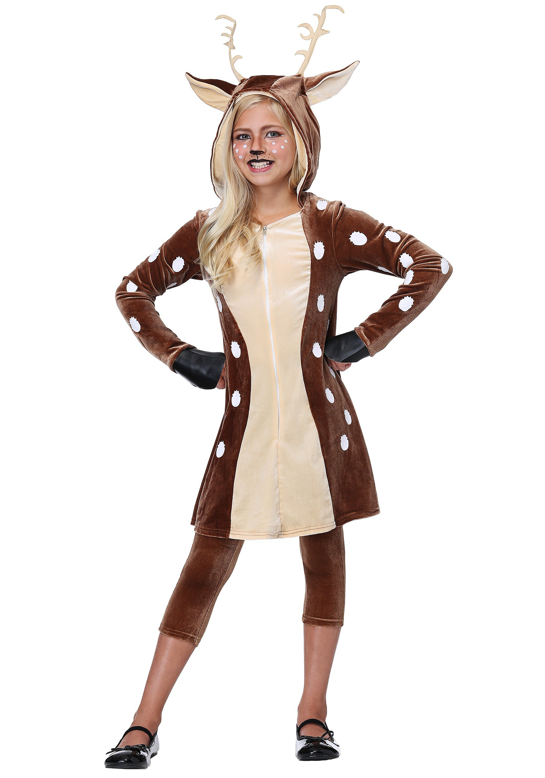 Girls Fawn Costume  sc 1 st  Halloween Costumes : deer in headlights halloween costume  - Germanpascual.Com