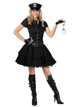 Plus Size Playful Police Costume1