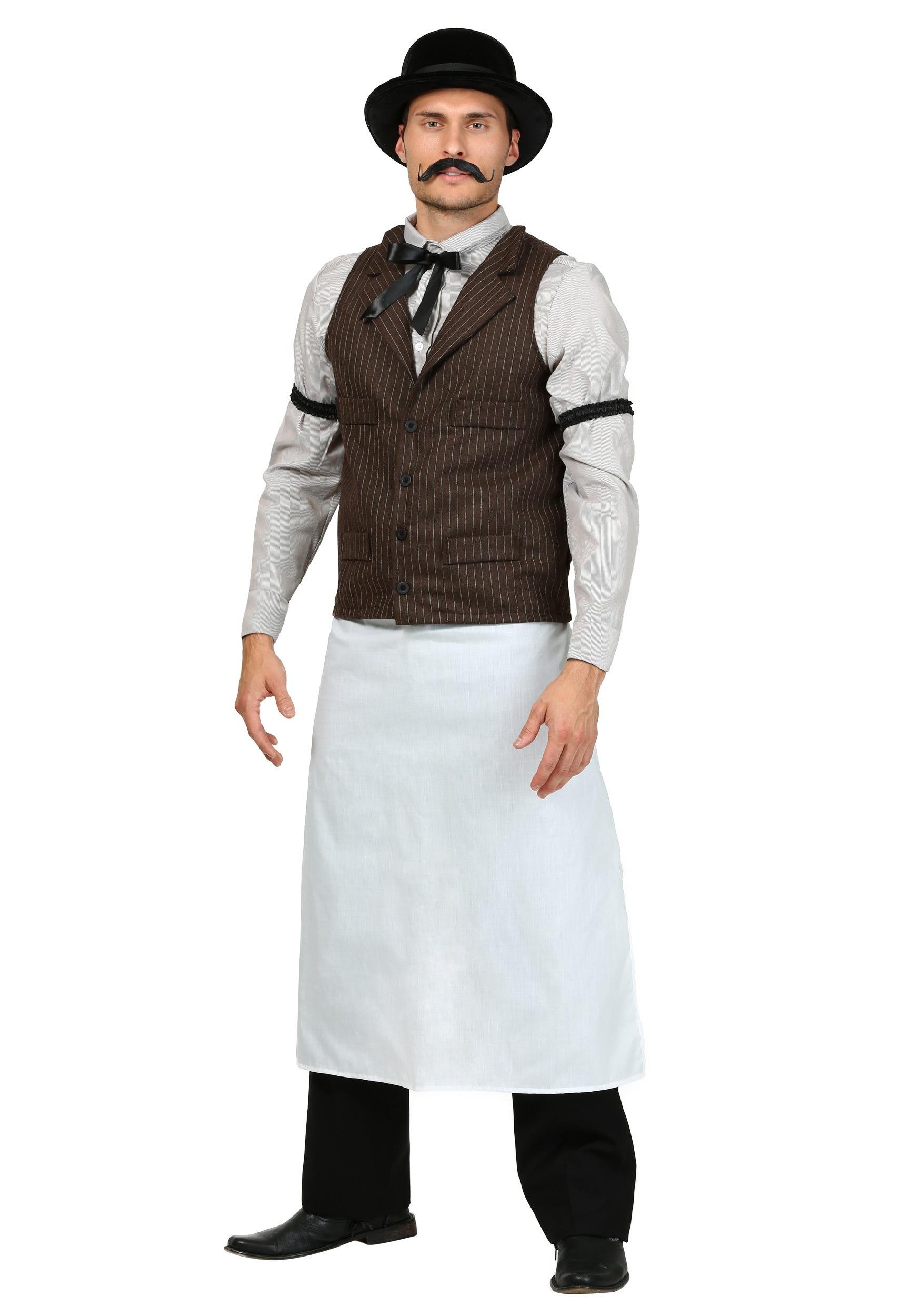 Superb Adult Old West Bartender Costume Short Hairstyles Gunalazisus