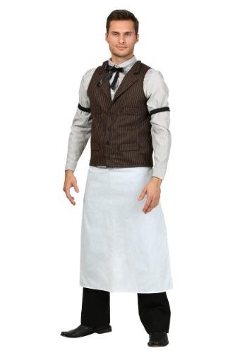 Plus Size Old West Bartender Costume for Men
