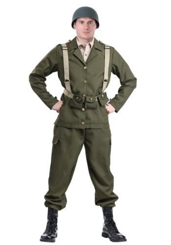 Click Here to buy Deluxe WW2 Soldier Costume for Adults from HalloweenCostumes, CDN Funds