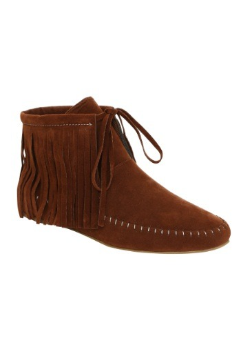 Click Here to buy Adult Native American Shoes from HalloweenCostumes, CDN Funds