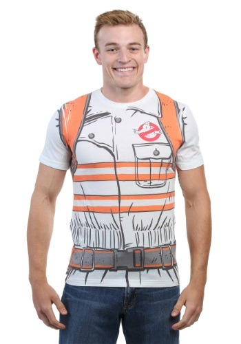 Click Here to buy Ghostbusters Reboot Costume Tee for Men from HalloweenCostumes, USA Funds & Shipping
