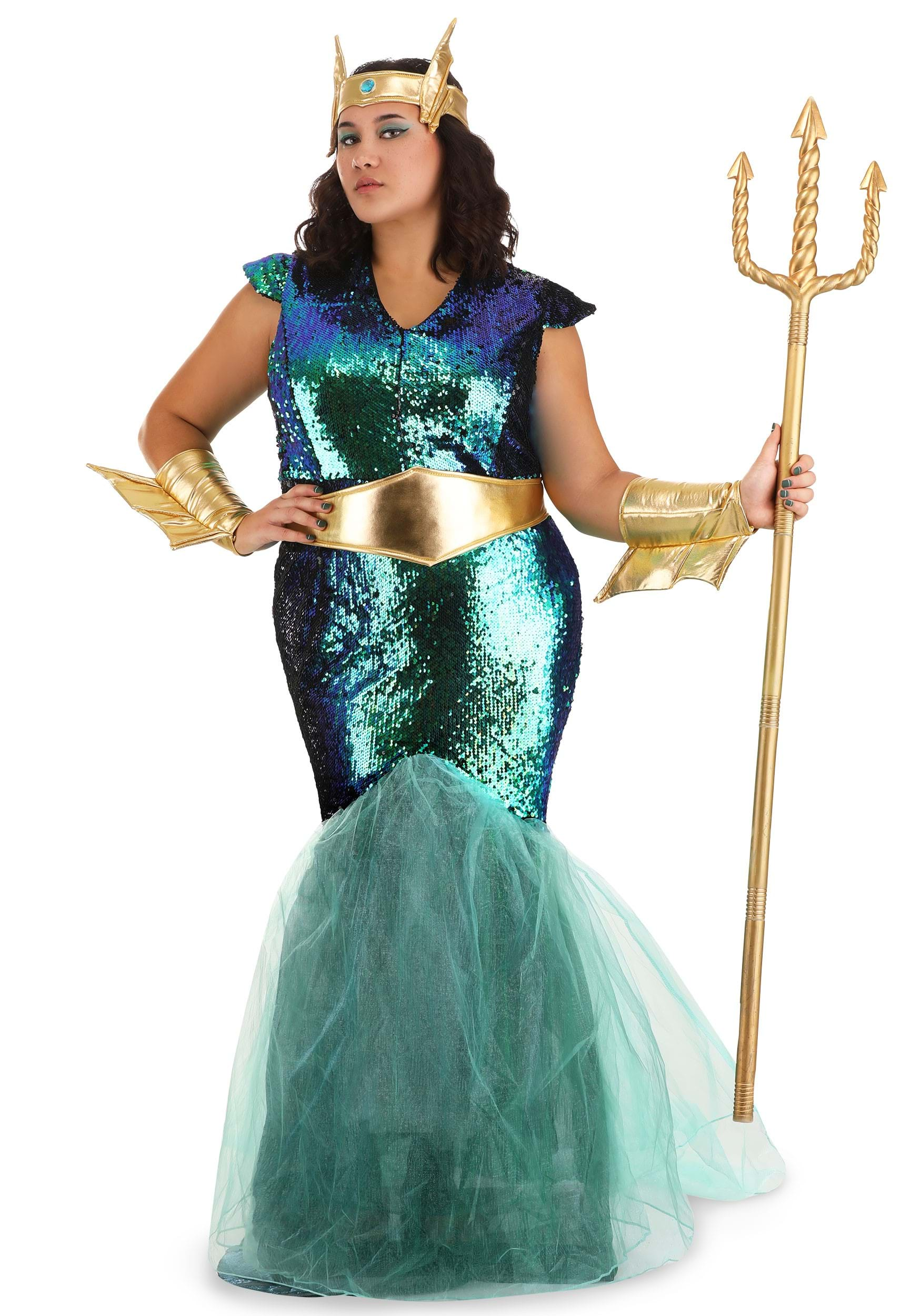 Women S Sea Siren Costume For Plus Size 1x 2x