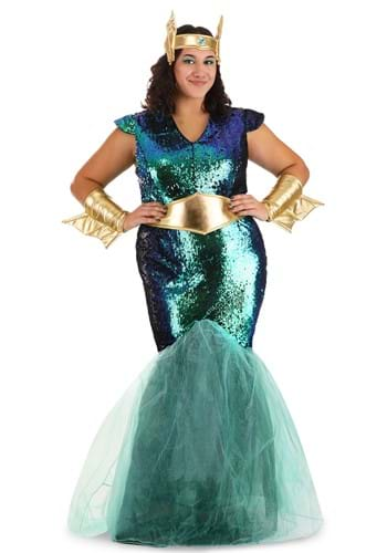Click Here to buy Womens Sea Siren Costume for Plus Size 1X 2X from HalloweenCostumes, CDN Funds