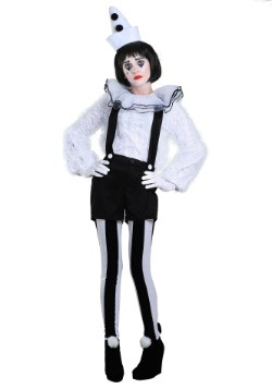 Vintage Pierrot Clown Womens Costume