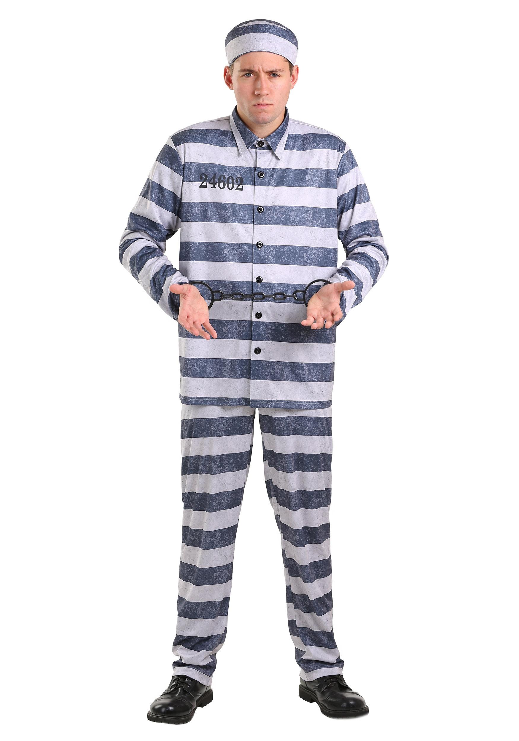 Plus Size Vintage Prisoner Costume for Men