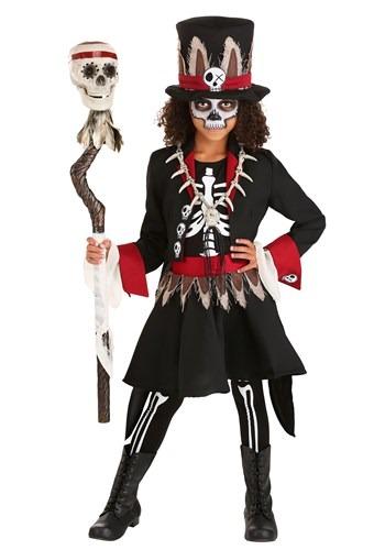 Girl's Scary Voodoo Skeleton Costume