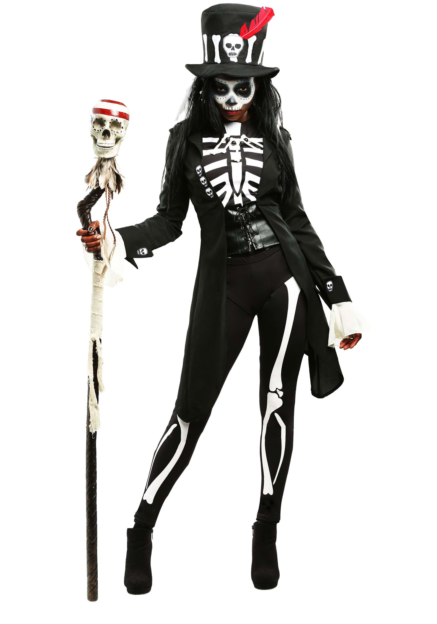 Voodoo Skeleton Womens Costume  sc 1 st  Halloween Costumes : skeleton costumes female - Germanpascual.Com