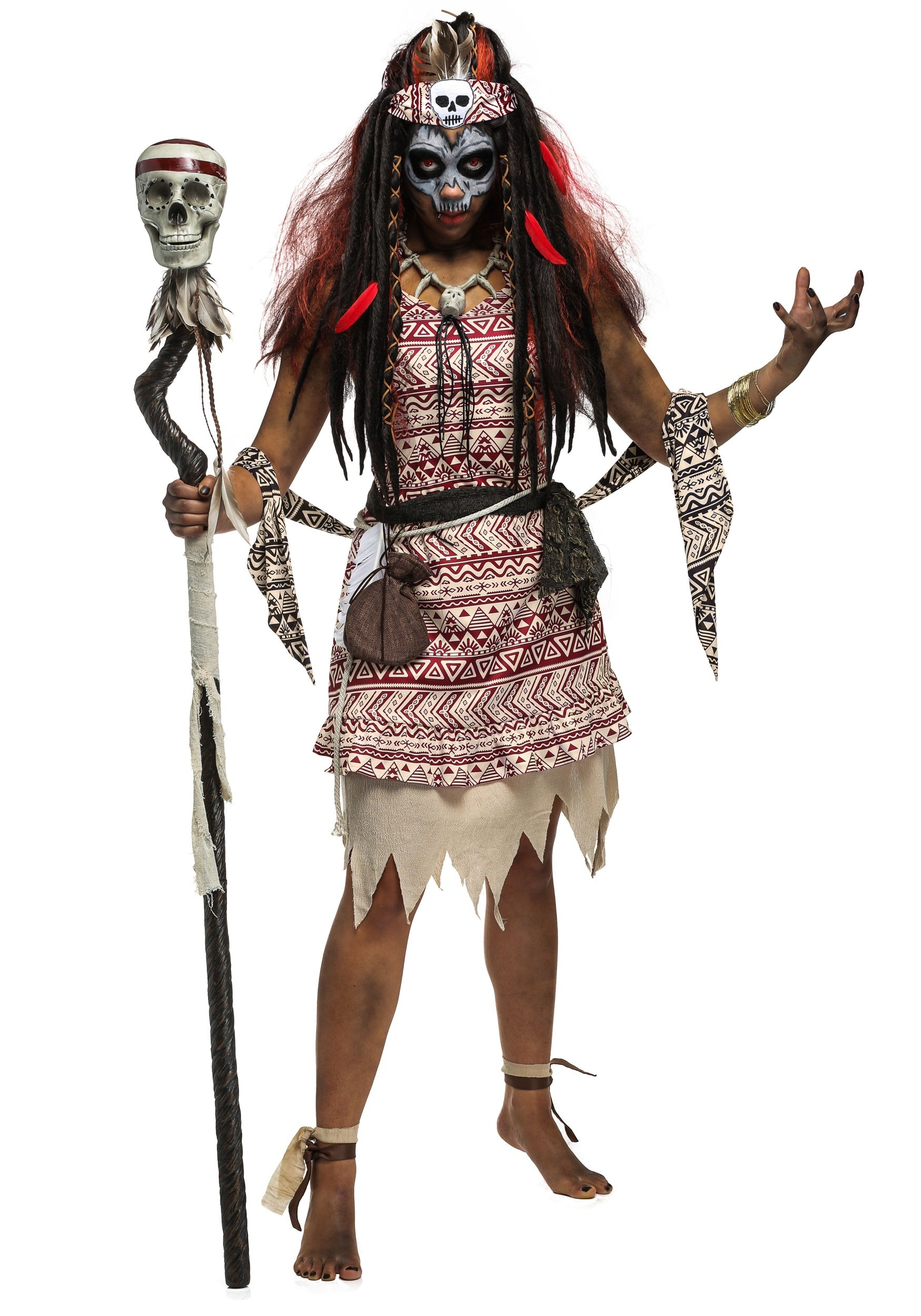 Voodoo Witch Plus Size Costume For Women 1x 2x