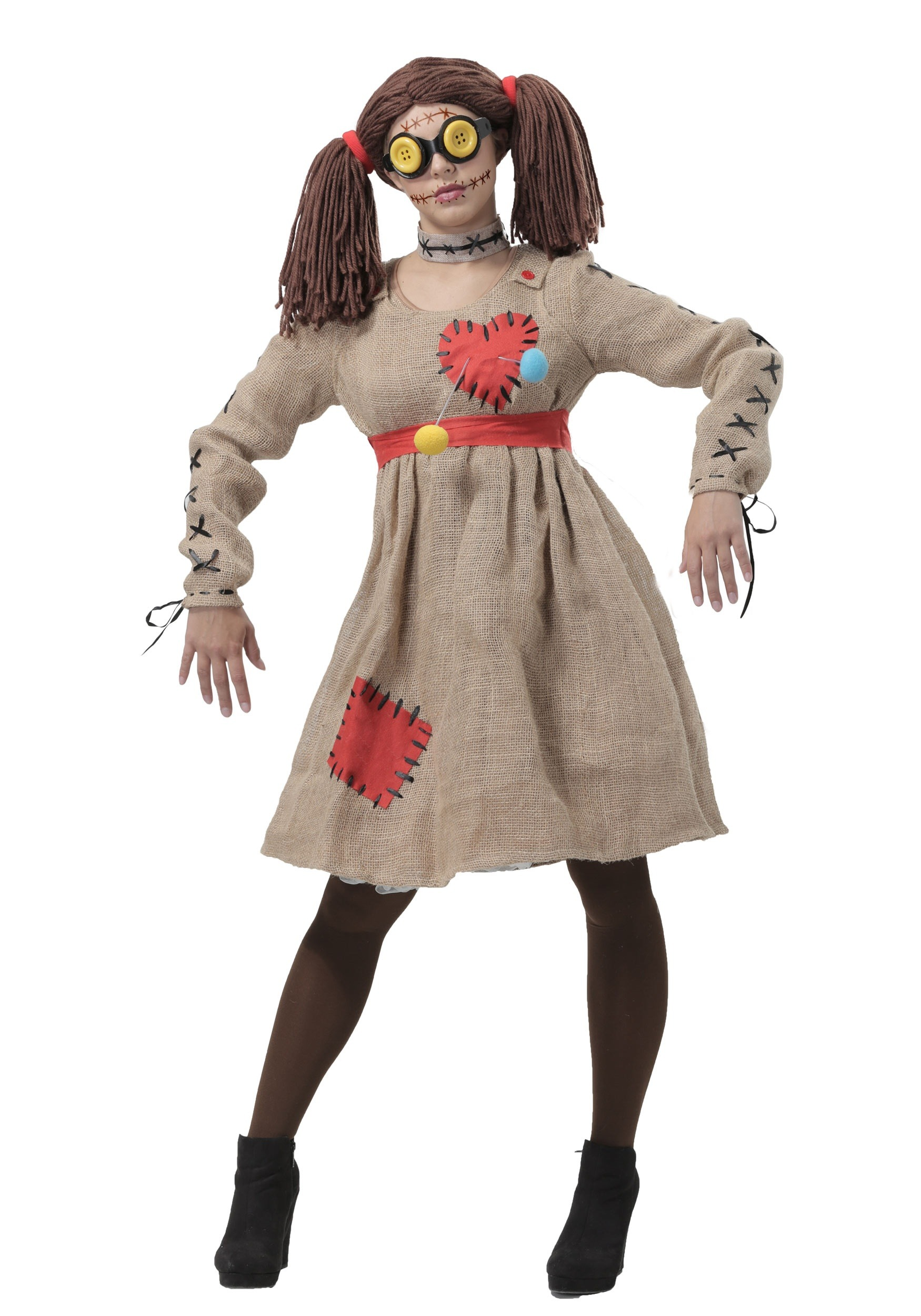 burlap voodoo doll costume for women