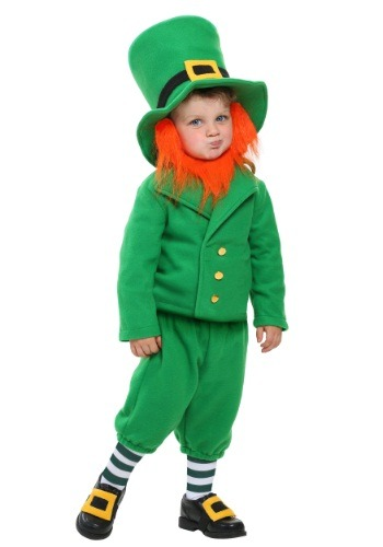 Click Here to buy Toddler Wee Little Leprechaun Costume from HalloweenCostumes, CDN Funds