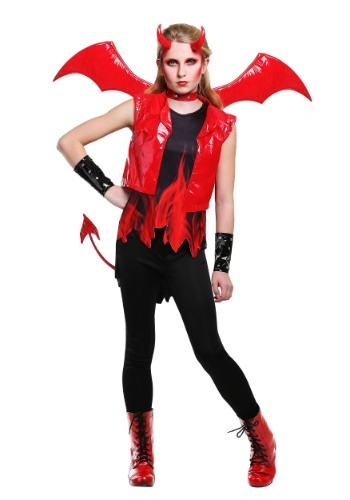 Click Here to buy Demon Fire Girls Costume from HalloweenCostumes, USA Funds & Shipping