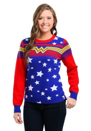 Womens Wonder Woman Tunic Ugly Christmas Sweater